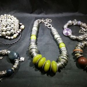 Vintage costume jewelry modern costume lot chunky